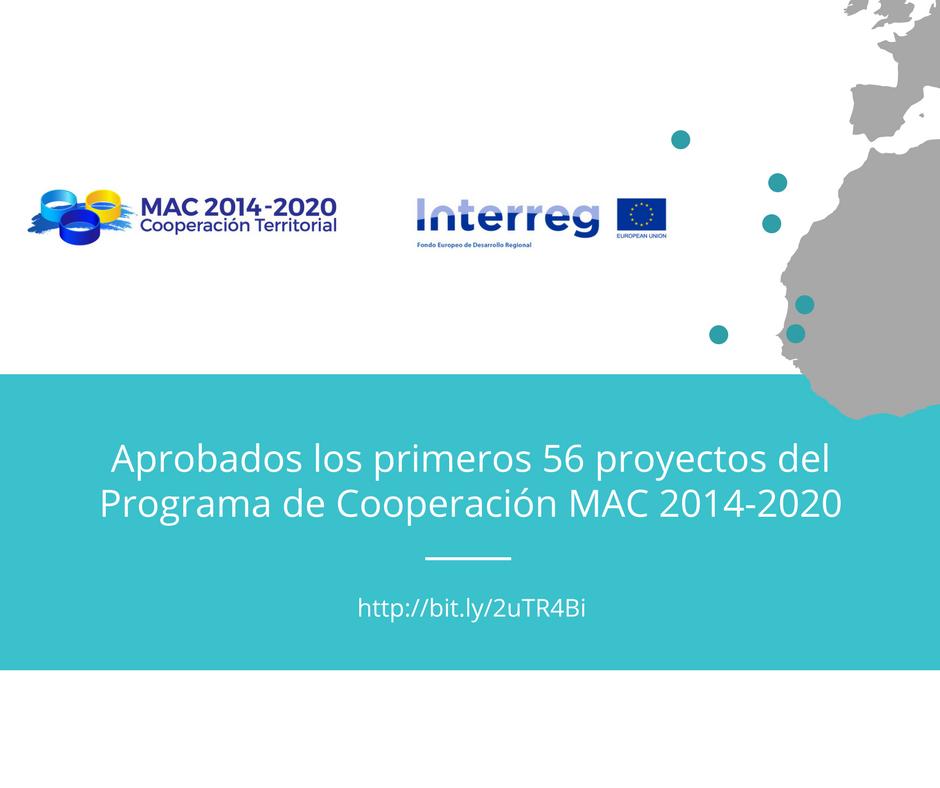 Aprobados los 56 primeros proyectos MAC 2014-2020