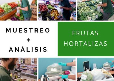 Muestreo de frutas y hortalizas