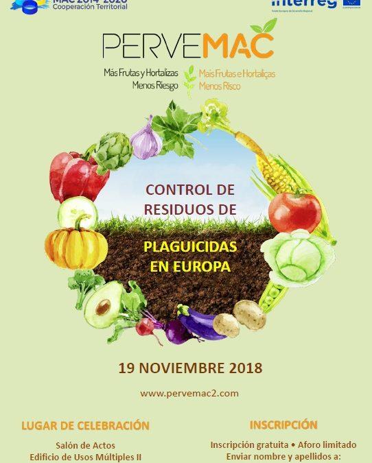 WORKSHOP CONTROL DE RESIDUOS DE PLAGUICIDAS EN EUROPA LAS PALMAS. 19/11/2018