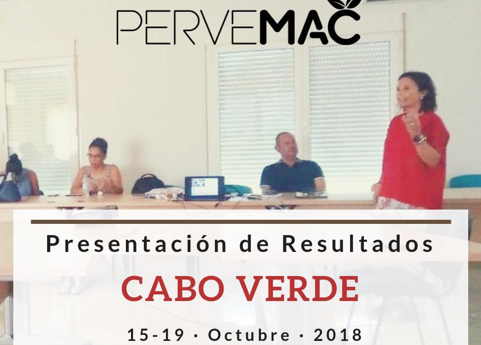 PRESENTACIÓN DE PRIMEROS RESULTADOS DE RESIDUOS FITOSANITARIOS EN CABO VERDE CABO VERDE. 15-19/10/2018