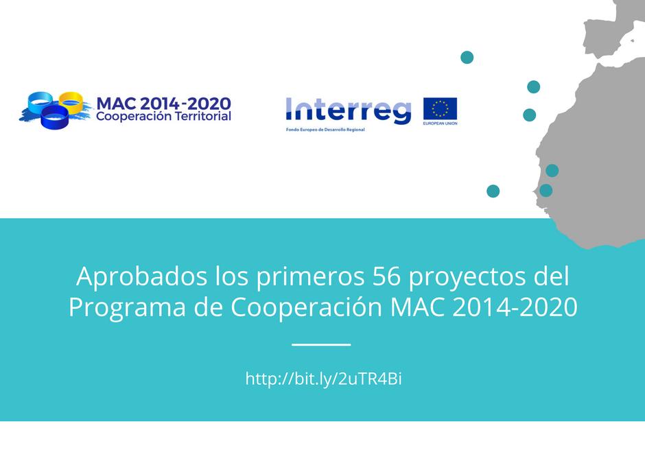 APROBADOS LOS 56 PRIMEROS PROYECTOS DEL PROGRAMA DE COOPERACIÓN MAC 2014-2020